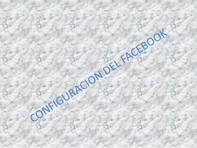 Configuracion del facebook