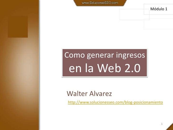 Como generar ingresos en la Web 2.0