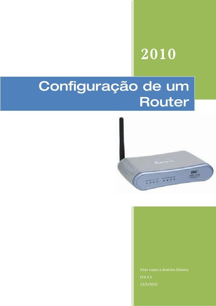 Configuração de um router trabalho rlw