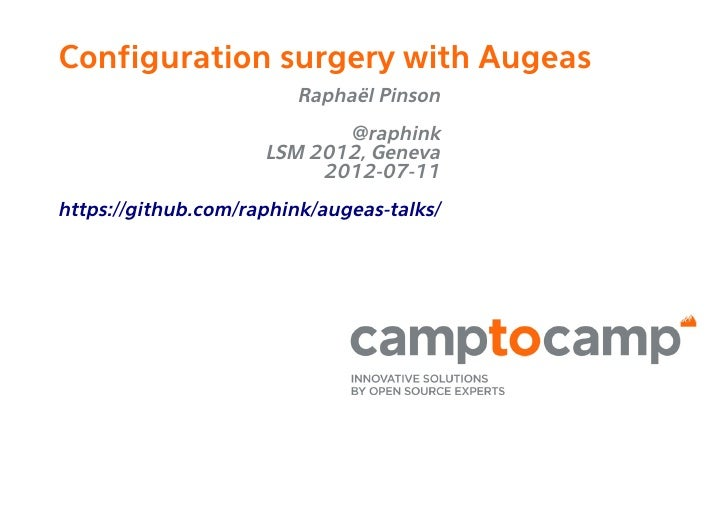 Configuration Surgery with Augeas