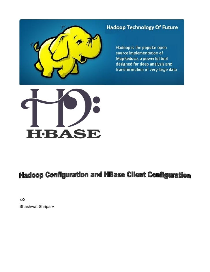 Configure h base hadoop and hbase client