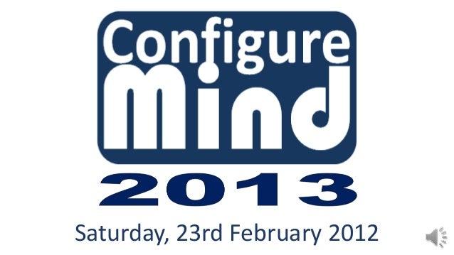 Saturday, 23rd February 2012