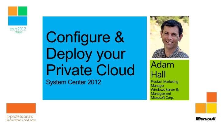 Configurando Private Cloud con System Center 2012