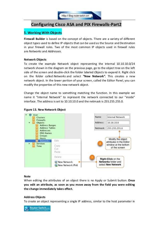 Configuring cisco asa and pix firewalls part3