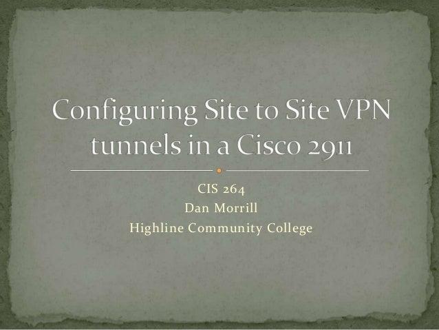 Configure Site to Site VPNs in Cisco 2911's