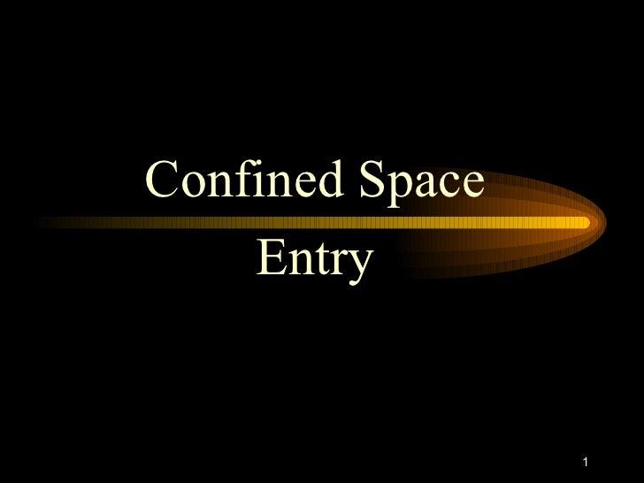 Confined Space Ppt