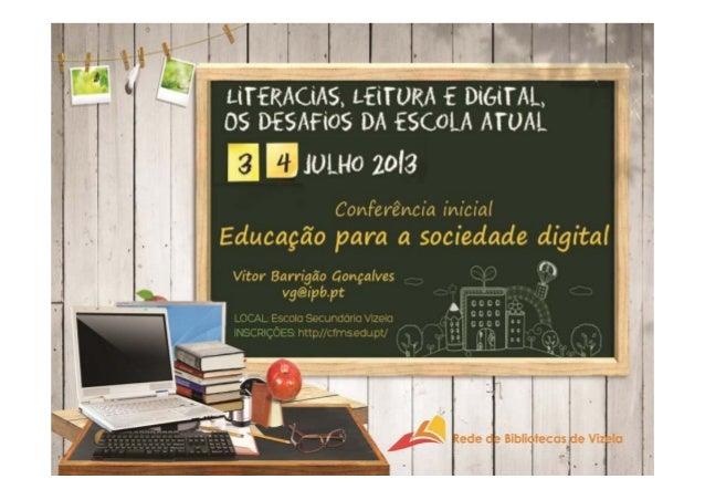 Literacias, Leitura e Digital | Educação para a sociedade digital início