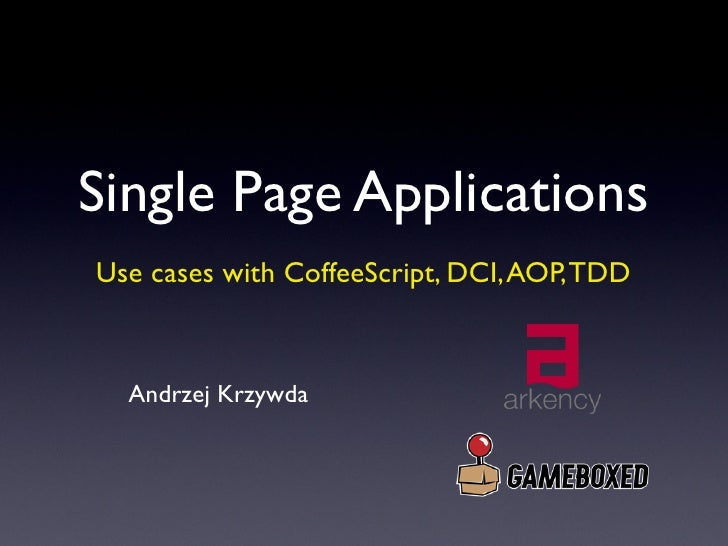 Single Page Applications with CoffeeScript [Polish]