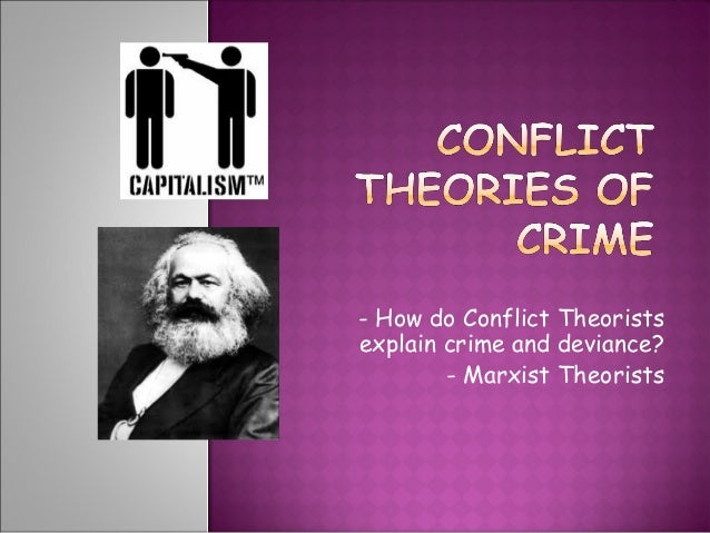 marxism and crime essay In this essay i will explain what is social construction, also what crime is, and why we think, that crime is socially constructed furthermore, i will explain how media construct crime and the stigma of black crime in the last paragraph i will explore the importance of marxist and durkheim's theories on the.