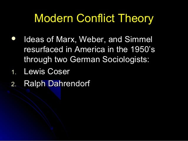 Conflict Theory - PowerPoint PPT Presentation