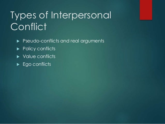 methods of resolving interpersonal conflict Effective communication for resolving conflict successfully by christine switzer june 13, 2017 christine switzer  what is the purpose of interpersonal conflict.