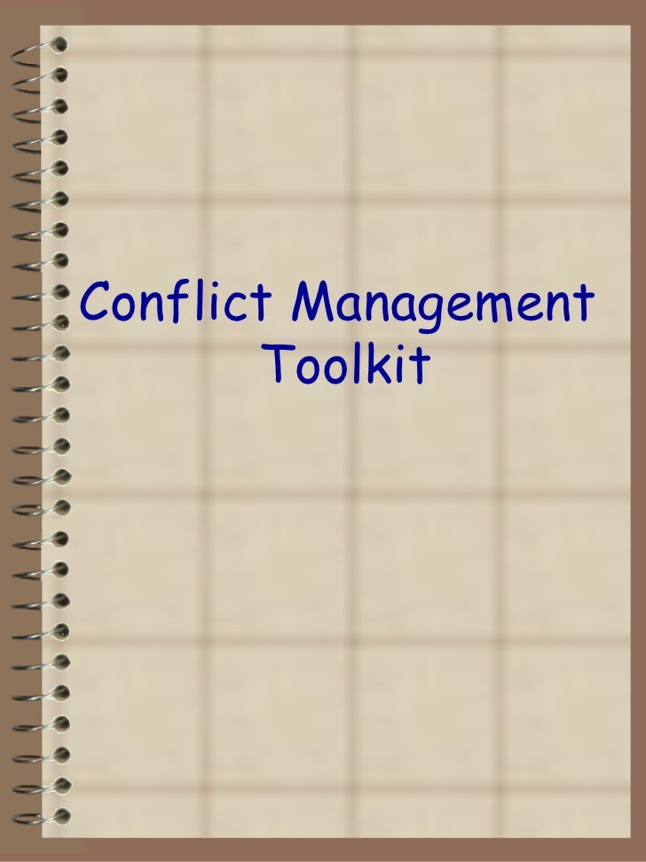 Conflict Management  Toolkit