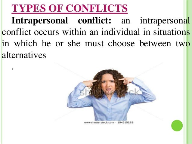 intragroup conflict and interpersonal conflict Conflict management interpersonal conflict involves two or more individuals rather than one individual a group experiencing intragroup conflict.