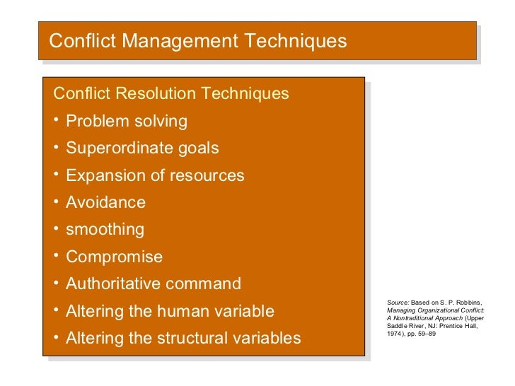 evaluation of constructive conflict management Conflict is an inevitable part of work we've all seen situations where people with different goals and needs have clashed, and we've all witnessed the often intense personal animosity that can result.