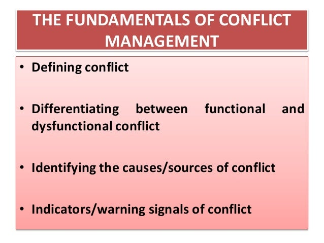 distinguish between functional and dysfunctional conflict essay Distinguishing the effects of functional and dysfunctional conflict on strategic allen c amason mississippi state university search for more papers by this author published online: 30 does the composition of the top team make a difference strategic management journal.