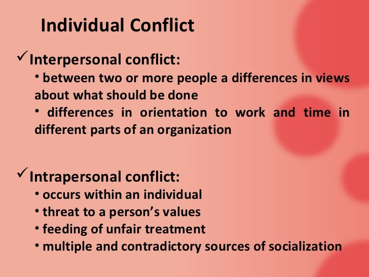 An essay about conflict between two people?