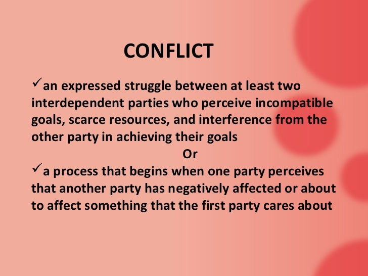 case studies for conflict resolution a
