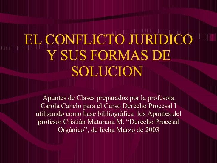 Conflicto Juridico Y Formas De Solucion