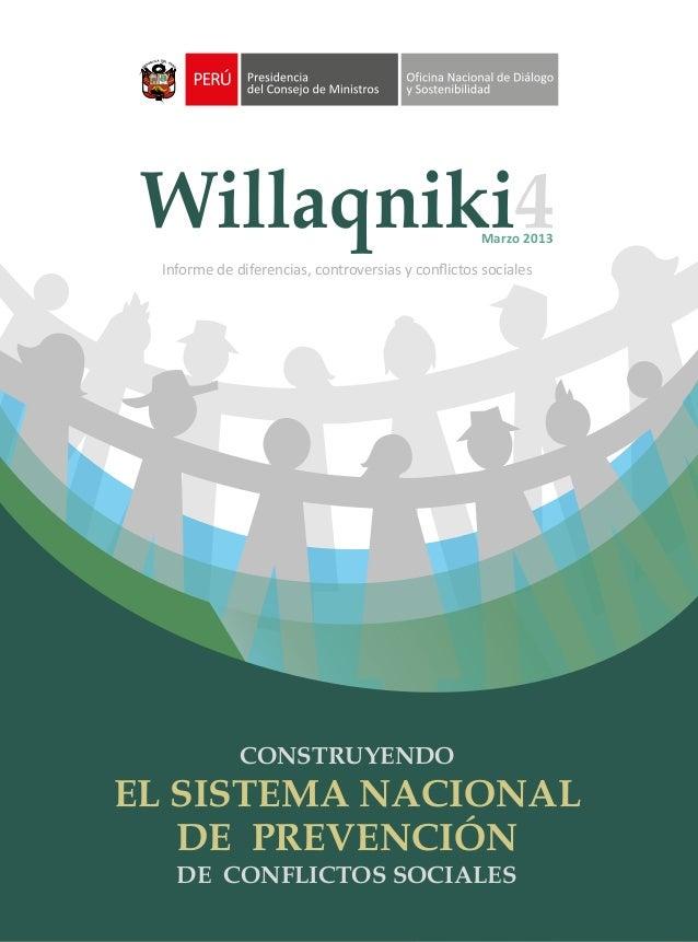 4                                                  Marzo 2013 Informe de diferencias, controversias y conflictos sociales  ...