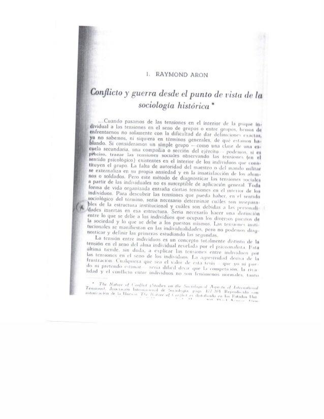 Conflicto y guerra sociologia historica (raymon aron)