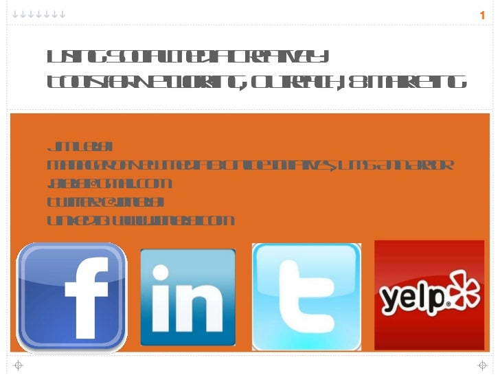 Using Social Media Creatively: Tools for Networking, Outreach, & Marketing (ACR SE Michigan May 2011)