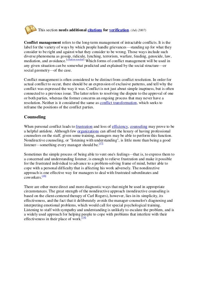 Conflict Essay Thesis