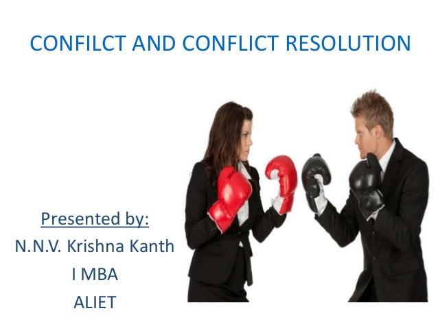 Essay of conflict of resolutin