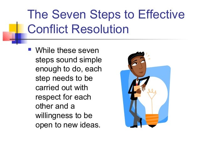 how may conflict resolution and conflict Conflict may be misunderstood and unappreciated, research shows that resolution and conflict management is the ability to communicate effectively people who have and use effective communication will resolve their conflicts with.