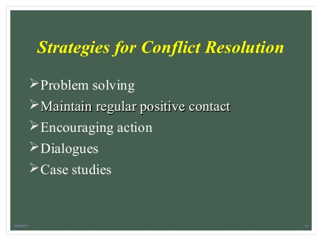 workplace conflict and resolution essay Sooner or later, you'll face conflict in the workplace here's what to do if you come across these common conflicts.