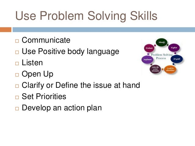 Problem solving conflict resolution
