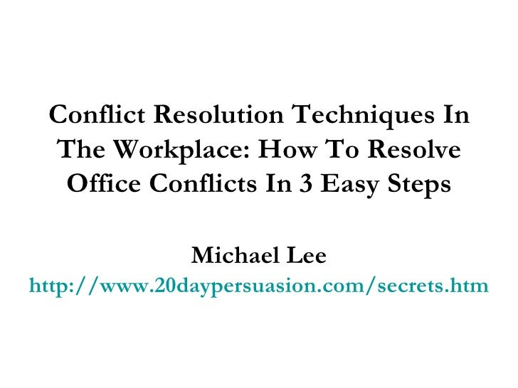 The gallery for --> Conflict Resolution In The Workplace