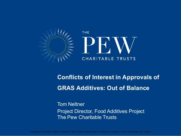 Conflicts of Interest in Approvals of GRAS Additives_2013