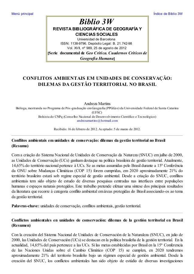 Menú principal  Índice de Biblio 3W  Biblio 3W REVISTA BIBLIOGRÁFICA DE GEOGRAFÍA Y CIENCIAS SOCIALES Universidad de Barce...