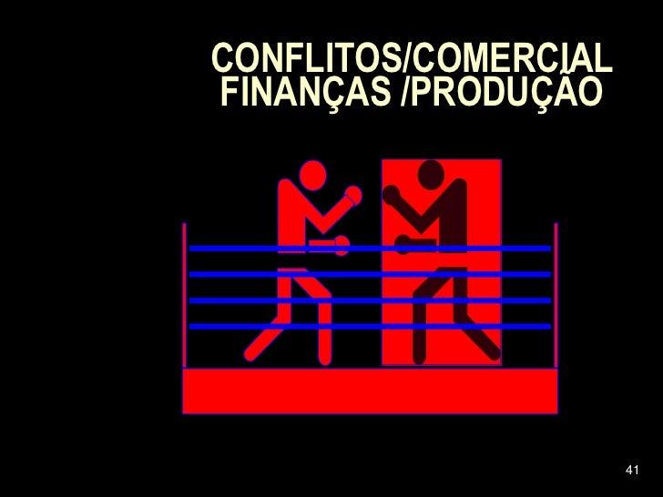 CONFLITOS/COMERCIAL FINANÇAS /PRODUÇÃO                           41