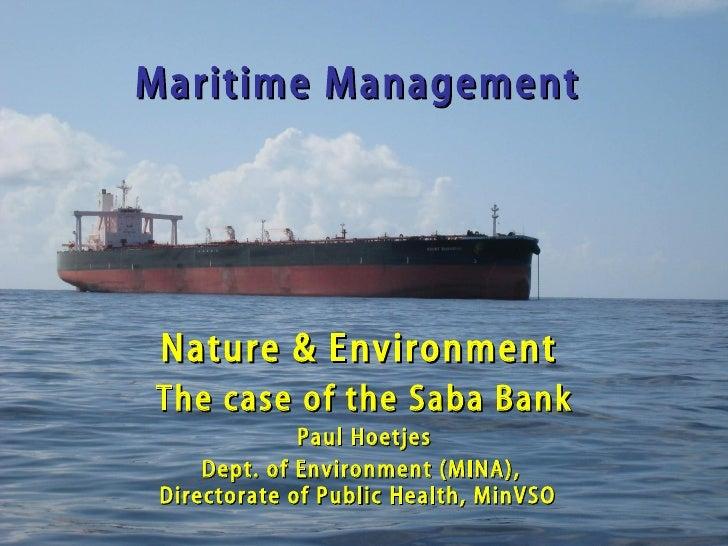 Maritime Management - Saba Bank