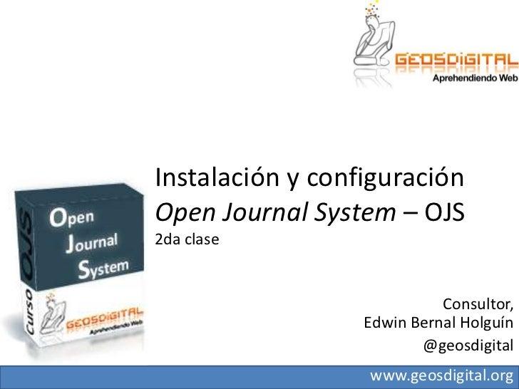 Conferencia OJS, para webmasters - 2da clase