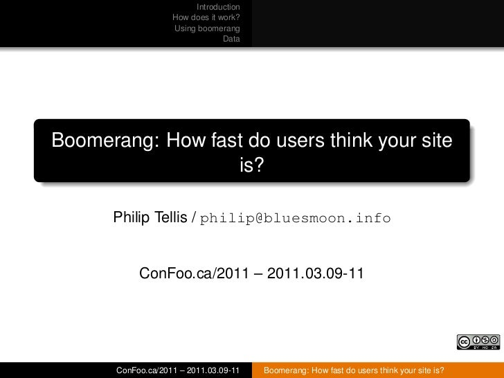 Boomerang: How fast do users think your site is?