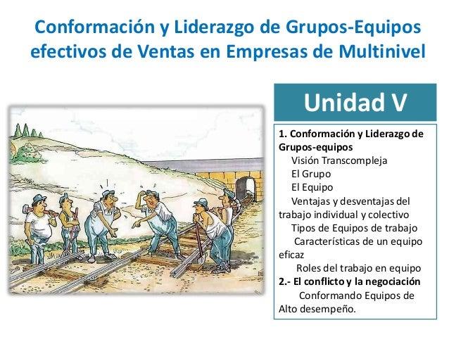 Conformación y Liderazgo de Grupos-Equiposefectivos de Ventas en Empresas de Multinivel                                 Un...
