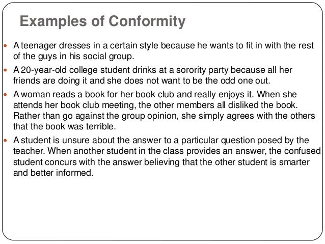 this i belive essay conformity or