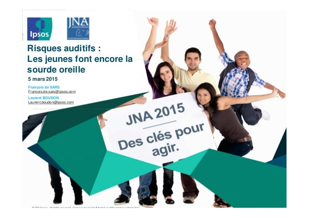 © 2014 Ipsos. All rights reserved. Contains Ipsos' Confidential and Proprietary information Risques auditifs : Les jeunes ...