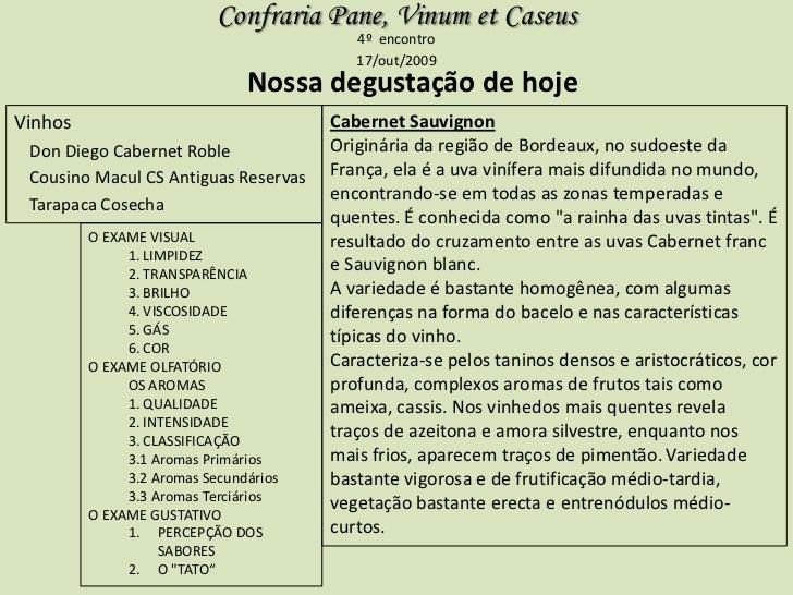 Confraria Pane, Vinum et Caseus                                          4º encontro                                      ...