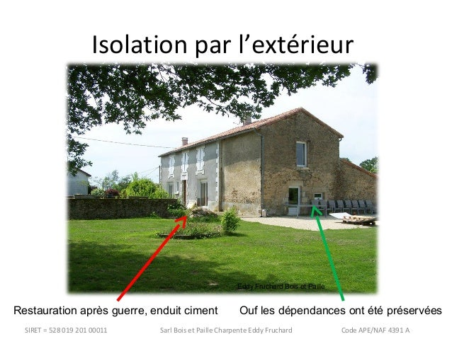 Conf rence isolation maison ancienne et perspiration - Isolation exterieur maison ancienne ...