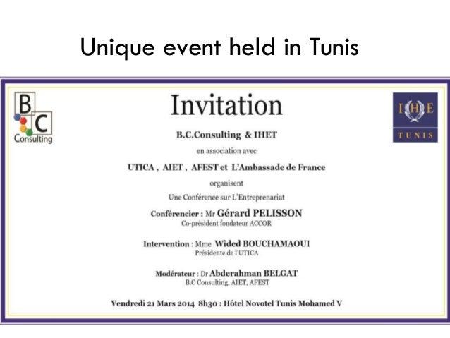 Unique event held in Tunis