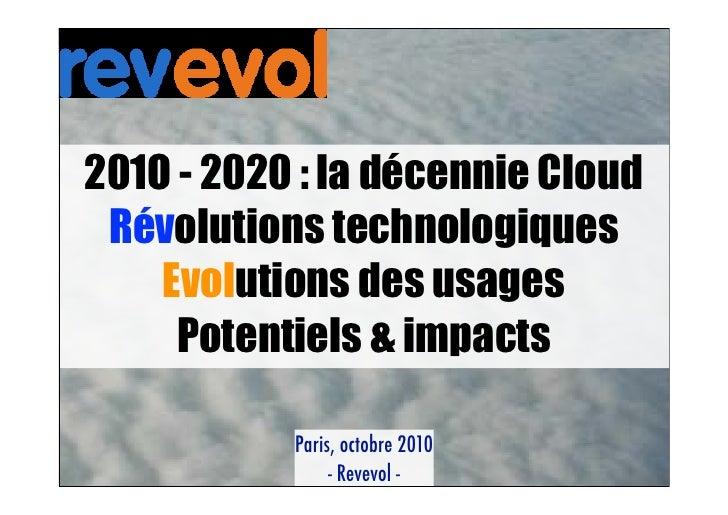 Présentation Revevol Cloud Computing