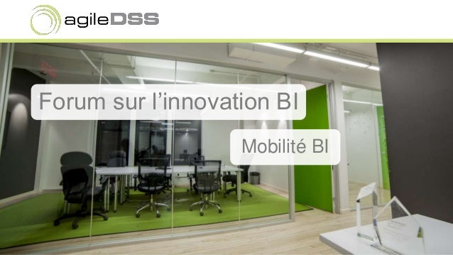 Forum sur l'innovation BI Mobilité BI