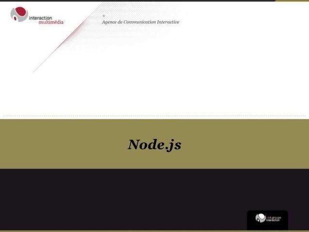 Conférence #nwx - node.js - 20121023