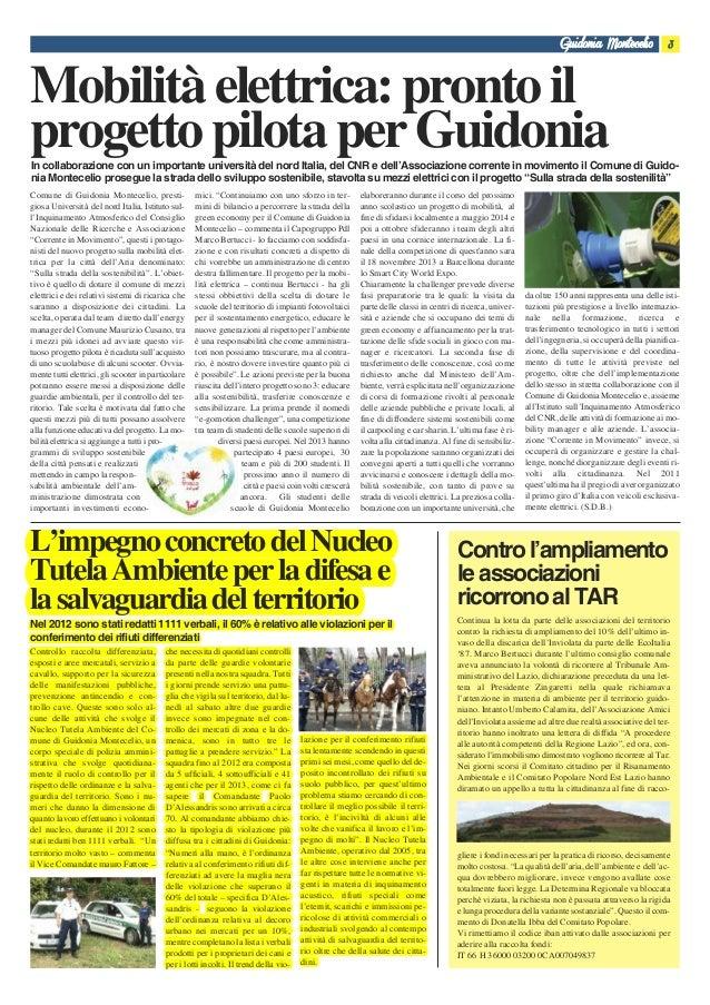Comune di Guidonia Montecelio, presti- giosa Università del nord Italia, Istituto sul- l'Inquinamento Atmosferico del Cons...