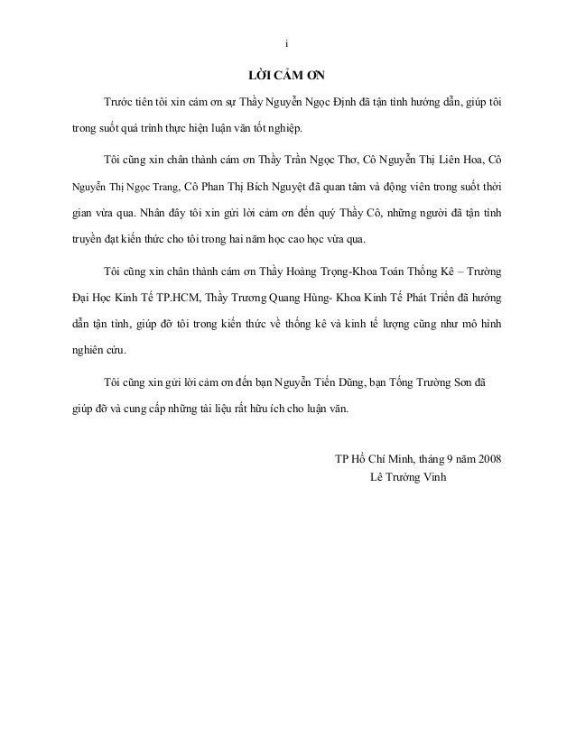 i                                      LỜI CẢM ƠN       Trước tiên tôi xin cám ơn sự Thầy Nguyễn Ngọc Định đã tận tình hướ...