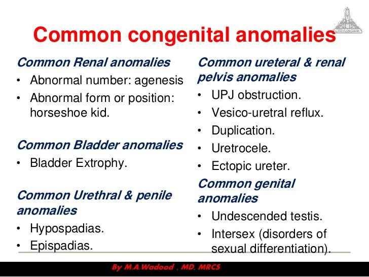 congenital abnormalities Overview of congenital craniofacial abnormalities - etiology, pathophysiology, symptoms, signs, diagnosis & prognosis from the merck manuals .