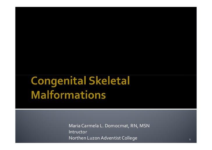 Musculoskeletal disorders Part 8 Congenital skeletal malformations